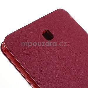 PU kožené puzdro pre tablet peňaženkové Samsung Galaxy Tab 8.0 4 -  magenta - 5