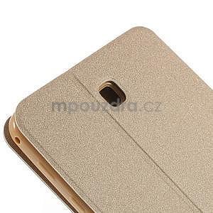 PU kožené puzdro pre tablet peňaženkové Samsung Galaxy Tab 8.0 4 - champagne - 5