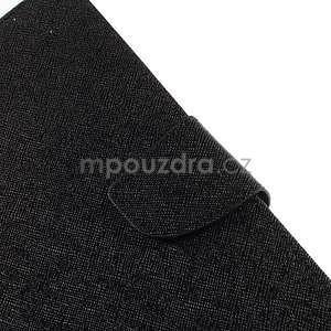 Čierne peňaženkové puzdro Goospery na tablet Samsung Galaxy Tab 8.0 4 - 5