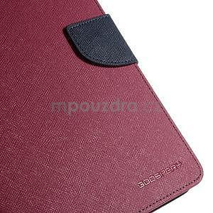 Rose peňaženkové puzdro Goospery na tablet Samsung Galaxy Tab 8.0 4 - 5