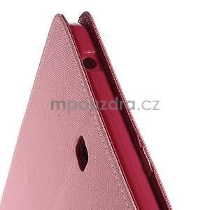 Ružové peňaženkové puzdro Goospery na tablet Samsung Galaxy Tab 8.0 4 - 5