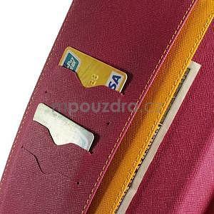 Žlté peňaženkové puzdro Goospery na tablet Samsung Galaxy Tab 8.0 4 - 5