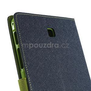 Modré peňaženkové puzdro Goospery na tablet Samsung Galaxy Tab 8.0 4 - 5