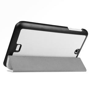 Trifold polohovatelné pouzdro na tablet Acer Iconia One 7 B1-770 - bílé - 5
