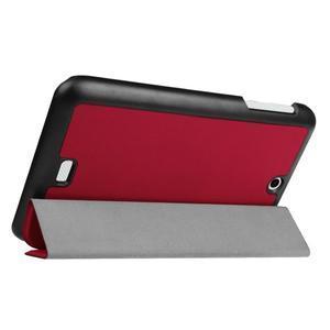 Trifold polohovatelné puzdro pre tablet Acer Iconia One 7 B1-770 - červené - 5
