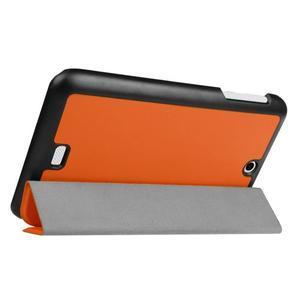 Trifold polohovatelné puzdro pre tablet Acer Iconia One 7 B1-770 - oranžové - 5