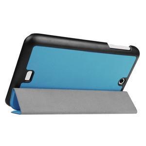 Trifold polohovatelné puzdro pre tablet Acer Iconia One 7 B1-770 - svetlomodré - 5