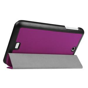 Trifold polohovatelné puzdro pre tablet Acer Iconia One 7 B1-770 - fialové - 5