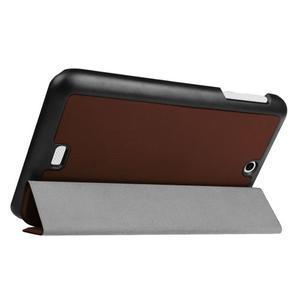Trifold polohovatelné pouzdro na tablet Acer Iconia One 7 B1-770 - hnědé - 5
