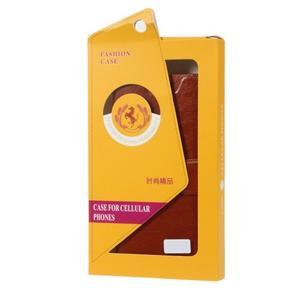 Horse peňaženkové puzdro pre Acer Liquid Z520 - hnedé - 5