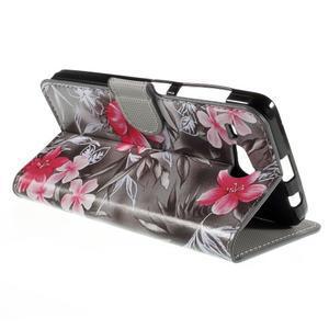 Nice koženkové pouzdro na mobil Acer Liquid Z520 - červené květy - 5