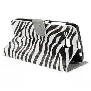 Nice koženkové pouzdro na mobil Acer Liquid Z520 - zebra - 5