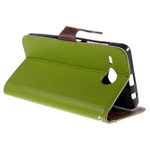 Lístečkové pouzdro na Acer Liquid Z520 - zelené - 5