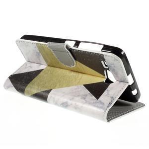 Nice koženkové puzdro pre mobil Acer Liquid Z520 - trojújelníky - 5
