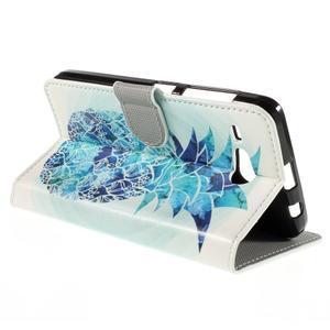 Nice koženkové puzdro pre mobil Acer Liquid Z520 - modrý ananas - 5