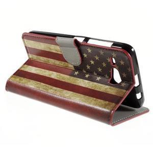 Nice koženkové puzdro pre mobil Acer Liquid Z520 - US vlajka - 5
