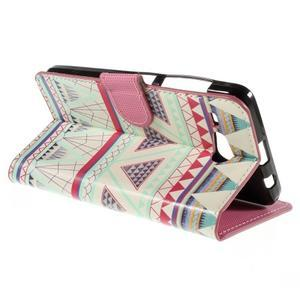 Nice koženkové puzdro pre mobil Acer Liquid Z520 - geo tvary - 5