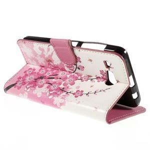 Nice koženkové puzdro pre mobil Acer Liquid Z520 - kvitnúca vetva - 5