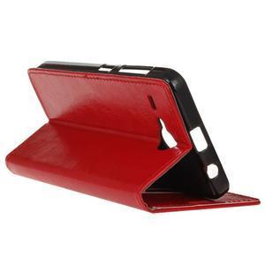 Stanley PU kožené puzdro pre Acer Liquid Z520 - červené - 5