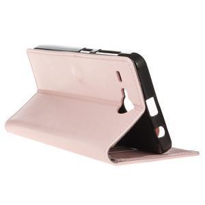 Stanley PU kožené pouzdro na Acer Liquid Z520 - růžové - 5