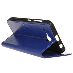 Stanley PU kožené pouzdro na Acer Liquid Z520 - modré - 5