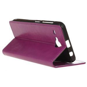 Stanley PU kožené puzdro pre Acer Liquid Z520 - fialové - 5