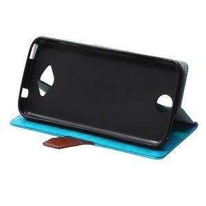 Lines PU kožené puzdro pre Acer Liquid Z530 - modré - 5