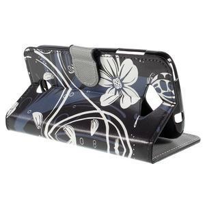 Valet peňaženkové puzdro pre Acer Liquid Z530 - biely kvet - 5