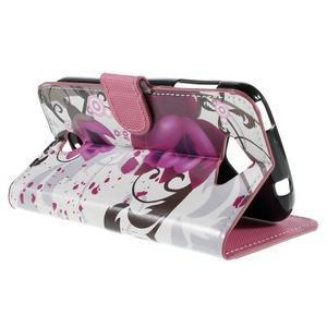 Valet peňaženkové puzdro pre Acer Liquid Z530 - fialové kvety - 5