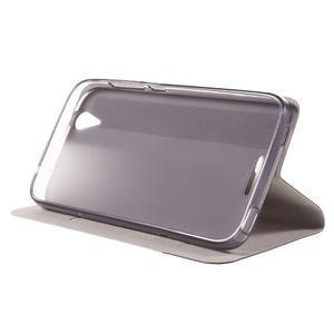 Klopové puzdro pre mobil Acer Liquid Z630 - šedé - 5