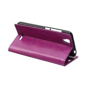 Leat PU kožené puzdro pre mobil Acer Liquid Z630 - fialové - 5