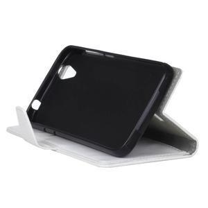 Leat PU kožené puzdro pre mobil Acer Liquid Z630 - biele - 5