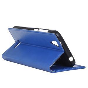 Leat PU kožené puzdro pre mobil Acer Liquid Z630 - modré - 5