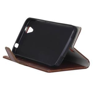 Leat PU kožené puzdro pre mobil Acer Liquid Z630 - hnedé - 5