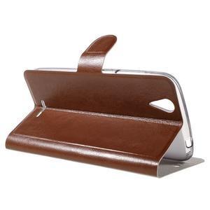 Horse peňaženkové puzdro pre Acer Liquid Z630 - hnedé - 5
