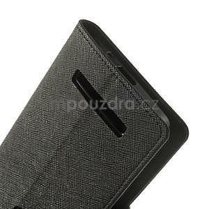 Čierné kožené puzdro Asus Zenfone 5 - 5