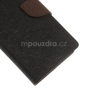 Čierné/hnedé peňaženkové puzdro na Asus Zenfone 5 - 5