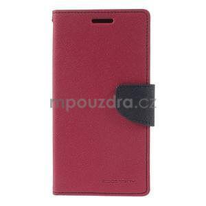 Rose/tmavě modré peňaženkové puzdro na Asus Zenfone 5 - 5