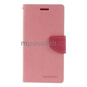 Růžové/rose peňaženkové puzdro na Asus Zenfone 5 - 5