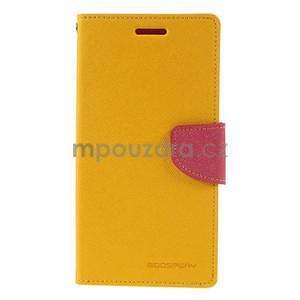 Žluté/rose peňaženkové puzdro na Asus Zenfone 5 - 5