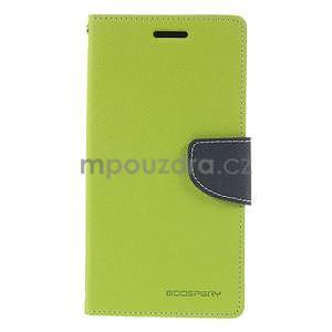 Zelené/tmavě modré peňaženkové puzdro na Asus Zenfone 5 - 5