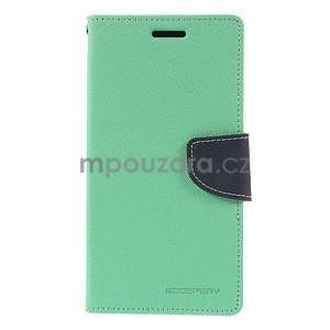 Azurové/tmavě modré peňaženkové puzdro na Asus Zenfone 5 - 5