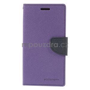 Fialové/tmavě modré peňaženkové puzdro na Asus Zenfone 5 - 5
