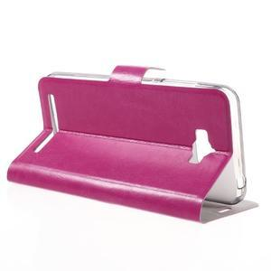 Horse peňaženkové puzdro pre Asus Zenfone Max - rose - 5