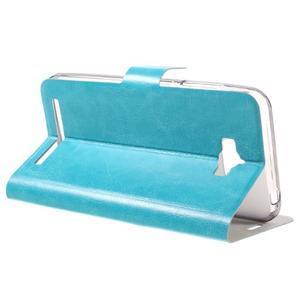 Horse peňaženkové puzdro pre Asus Zenfone Max - modré - 5