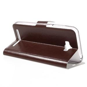 Horse peňaženkové puzdro pre Asus Zenfone Max - hnedé - 5