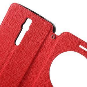 Diary peněženkové pouzdro s okýnkem na Asus Zenfone Max - červené - 5