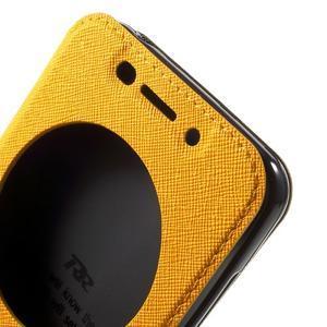 Diary peněženkové pouzdro s okýnkem na Asus Zenfone Max - žluté - 5