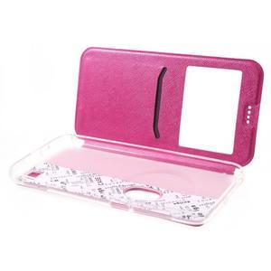 Peněženkové pouzdro s okýnkem na Asus Zenfone Zoom - rose - 5