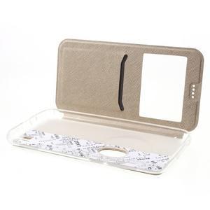 Peňaženkové puzdro s okienkom pre Asus Zenfone Zoom - zlaté - 5